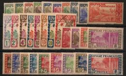 Guyane - 1929-38 - N°Yv. 109 à 132 - Série Complète - Neuf * / MH VF - Ungebraucht