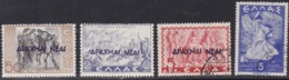 Greece, Scott #455-457, 461, Mint Hinged/Used, Scenes Of Greece Surcharged, Allegory Of Glory, Issued 1944-45 - Greece