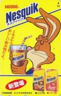 Télécarte Japon / 110-011 - NESQUIK - Pub CHOCOLAT * LAPIN * - NESTLE Adv. Japan Phonecard - Rabbit - Swiss Rel - 222 - Alimentation