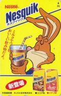 Télécarte Japon / 110-011 - NESQUIK - Pub CHOCOLAT * LAPIN * - NESTLE Adv. Japan Phonecard - Rabbit - Swiss Rel - 222 - Lebensmittel