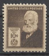 United States 1940 Mi# 489** ALEXANDER GRAHAM BELL, INVENTOR - Unused Stamps