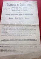 1917 BOULOGNE SUR MER 17 RUE DE SILLY INSTITUTION DE JEUNES FILLES-COURS POUR PETITS GARÇONS-COUR JARDIN RECRÉATIONS - Diplomi E Pagelle