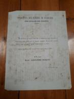 1869 FERRARA INVITO AL BALLO SOCIETA' DEL CASINO DEL COMUNE - Mededelingen