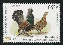 "MONTENEGRO / CRNA GORA  - EUROPA 2019 -NATIONAL BIRDS.-""AVES -BIRDS -VÖGEL-OISEAUX""- SERIE  N - 2019"