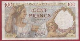 """100 Francs """"Sully"""" Du 04/12/1941.AC ---F/TTB+---ALPH.N .26379-- N °388 - 100 F 1939-1942 ''Sully''"""