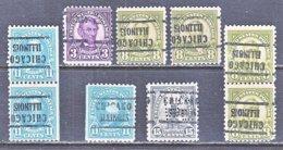 U.S. 555 +   Perf. 11   (o)   ILLINOIS    1923-25  Issue - Precancels