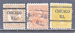 U.S. 582 +   Perf. 10   (o)   ILLINOIS      1923-26  Issue - Precancels
