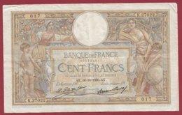 "100 Francs ""Luc Olivier Merson"" Du 16/10/1930.AK ---F/TTB+---ALPH.N .K.27022 - 100 F 1908-1939 ''Luc Olivier Merson''"
