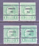 U.S. 597   Perf. 10   (o)   ILLINOIS      1923  Issue - Precancels
