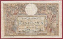 "100 Francs ""Luc Olivier Merson"" Du 26/02/1931.AD ---F/TTB+---ALPH.N .B.29104 - 1871-1952 Anciens Francs Circulés Au XXème"