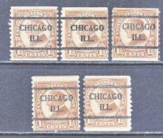 U.S. 598   Perf. 10   (o)   ILLINOIS      1925   Issue - United States