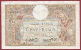 """100 Francs """"Luc Olivier Merson"""" Du 27/10/1932.AJ ---F/TTB+---ALPH.N .37365 - 1871-1952 Anciens Francs Circulés Au XXème"""