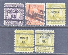 U.S. 635 +   Perf. 11 X 10 1/2    (o)   ILLINOIS      1926- 34   Issue - Precancels
