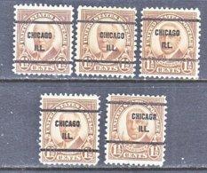 U.S. 684   Perf. 11 X 10 1/2    (o)   ILLINOIS      1930   Issue - Precancels