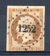 SUPERBE - YT N° 9a - Cote: 950,00 € - 1852 Louis-Napoléon