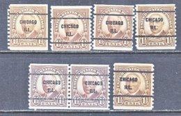 U.S. 686   Perf. 10     (o)   ILLINOIS      1930   Issue - Precancels