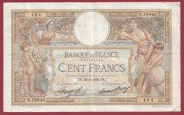"""100 Francs """"Luc Olivier Merson"""" Du 30/03/1933.EU ---F/TTB+---ALPH.N.39848 - 1871-1952 Antiguos Francos Circulantes En El XX Siglo"""