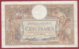 """100 Francs """"Luc Olivier Merson"""" Du 18/05/1933.DJ ---F/TTB+---ALPH.X.40605 - 1871-1952 Anciens Francs Circulés Au XXème"""