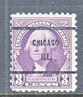 U.S. 720   Perf.  11 X 10 1/2     (o)   ILLINOIS      1932   Issue - Precancels