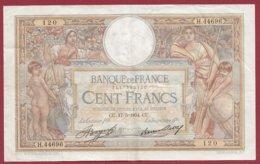 """100 Francs """"Luc Olivier Merson"""" Du 17/05/1934.CU ---F/TTB+---ALPH.H.44696 - 1871-1952 Anciens Francs Circulés Au XXème"""