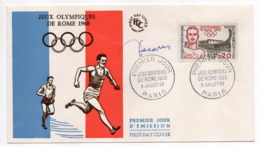 1960-- FDC --Jeux Olympiques De ROME --cachet  PARIS - 75................à Saisir - FDC