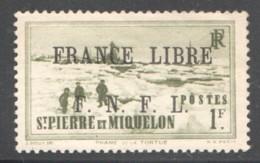 Phare De La Tortue 1 Fr Surchargé «France Libre» ** Signé - St.Pierre & Miquelon