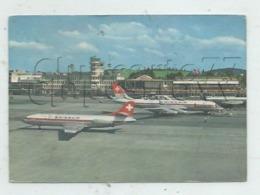 Zurich (Suisse, Zurich) :Flughafen  Avions De La Swissair Devant L'aérogare De Zürich-Kloten En  1980 (lebndig) GF. - ZH Zurich