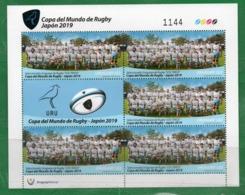 1686b  URUGUAY 2019- Plancha X 5 Copa Del Mundo De Rugby - Japón 2019. - Uruguay