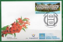 1686c  URUGUAY 2019 En FDC -Copa Del Mundo De Rugby - Japón 2019. - Uruguay