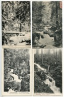 8 CP GERARDMER Passerelle Pont Saut Cuves Pont D'Amour Ruisseau Mérelle Fées Marie Louise Vologne - Gerardmer