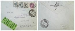O) 1928 GERMANY, SCADTA GERMANY, GERMAN EAGLE. EAGLE MARK, GOTTFRIED WILHELM, LUFTPOST, BREMEN. TO BOGOTA, XF - Germany