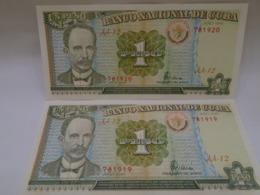 Cuba. Un Peso 1995, Consecutive, El Apostol De La Patria Jose Marti, Beautiful, Crisp, UNC. - Cuba
