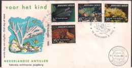 Antilles Néerlandaises 1965 - FDC - Pour L'enfant - Timbres De La Vie Marine - Antilles