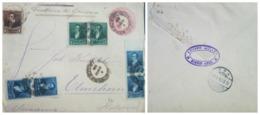 O) 1893 ARGENTINA, RIVADAVIA - SC 93 1c - SC 94 2c - SC 92 1/2c, BELGRANO 5c Red Rose POSTAL STATIONERY EDUARDO MULLER O - Postal Stationery