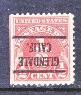 U.S. J  68   Perf.  11   **  INVERTED   CALIF.       1925   Issue - Precancels