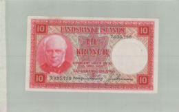 BILLET BANQUE  10 Coronas. 1928. ISLANDIA.- LANSBANKI ISLANDS  Sept 2019  Alb Bil - IJsland