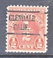 U.S. J  79   Perf.  11 X 10 1/2   **  CALIF.   1931-36   Issue - Precancels