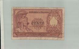 Billet De Banque:  REPUBBLICA ITALIANA  100 LIRE 1951  Sept 2019  Alb Bil - [ 2] 1946-… : Républic