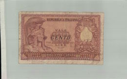 Billet De Banque ITALIE  REPUBBLICA ITALIANA  100 LIRE 1951  Sept 2019  Alb Bil - Andere