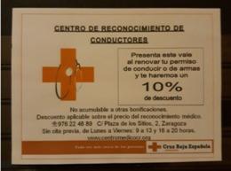 CRUZ ROJA - RED CROSS. CENTRO DE RECONOCIMIENTO CONDUCTORES. - Publicidad