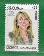 1687 URUGUAY 2019-Senadora Martha Montaner-Día De La Democracia - Uruguay