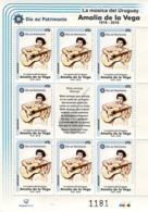 1688b URUGUAY 2019-Amalia De La Vega-Día Del Patrimonio-TT: Cantante,Guitarras,Mates - Uruguay