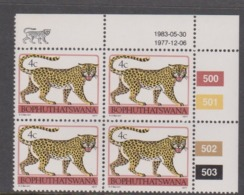 South Africa-Bophuthatswana SG R8a 1983 Tribal Totems,4c Leopard,Block 4 Reprint ,Mint Never Hinged - Bophuthatswana