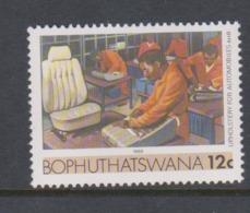 South Africa-Bophuthatswana SG R135 1988 Industries,12c Car Upholstery,reprint ,Mint Never Hinged - Bophuthatswana