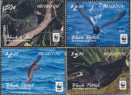 Niuafo Ou - Island 611-614 (complete Issue) Unmounted Mint / Never Hinged 2016 Schwarzsturmvogel - Niue