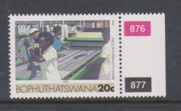South Africa-Bophuthatswana SG R138 1987 Industries,20c Men's Clothing,,reprint ,Mint Never Hinged - Bophuthatswana