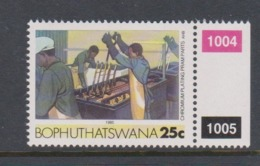 South Africa-Bophuthatswana SG R139 1989 Industries,25c Chromium Plaing Pram Parts,reprint ,Mint Never Hinged - Bophuthatswana