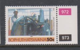 South Africa-Bophuthatswana SG R141 1989 Industries,50c Milk Processing Plant,,reprint ,Mint Never Hinged - Bophuthatswana