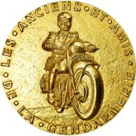 France, Médaille, Gendarmerie, Attribué à Mr Henri Decroly, 1989, Conrad - Autres