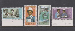 South Africa-Ciskei Scott 34-37 1982 Nursing,Mint Never Hinged - Bophuthatswana
